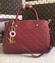 LOUIS VUITTON Classic new style Small lychee grain cowhide colors available