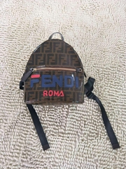 Fendi Mini FF Fendi Mania Fabric Backpack kids girl boy bags