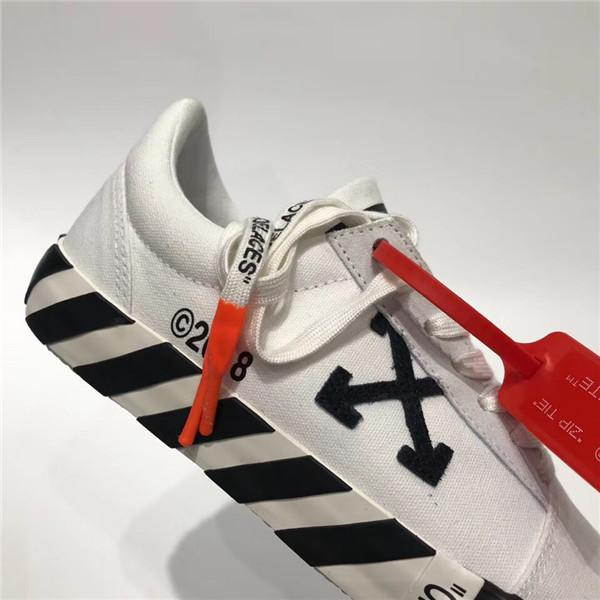Off-White Vulcanized Striped Low-Top Sneakers