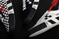 Off-White Vulcanized Striped Low-Top Sneakers  thick striped soles and a zip-tie