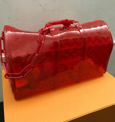 Louis Vuitton Virgil Keepall 50 Bag Hand Shoulder Red Bandouliere New Rare bags