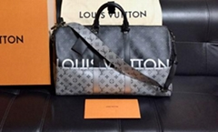 6ad6f9db17ac Louis Vuitton Keepall Bandouliere 50 Boston Bag Silver Monogram Handbag LV  cheap