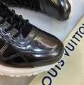 LOUIS VUITTON lv Run Away sneaker Technical laces metallic trim embroidered LV