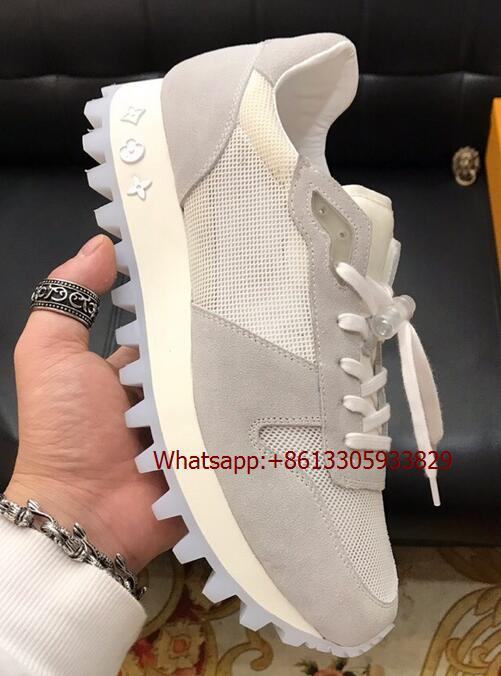 LV RUNNER SNEAKER Monogram Flowers Canvas stitching leather running shoes