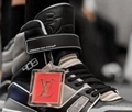 LV Trainer Sneaker Boot avant-garde hi-top velcro strap calf leather