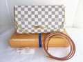 Louis Vuitton Favorite MM Damier Azur Damier Ebene Canvas Bag Pochette Clutch