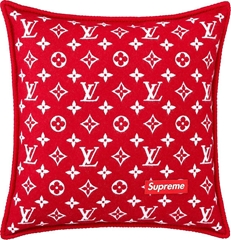 x         red color Cushion Pillow Monogram MP1886 Unused From JPN