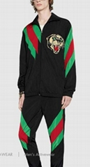 Gucci tracksuit activewear Oversize nylon jacket shorts pants with Web intarsia