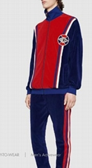 Gucci tracksuit activewear Oversize cotton Chenille jacket jogging pant with Web