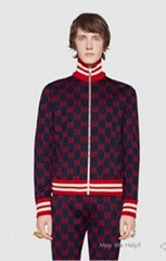 Gucci tracksuit activewear GG jacquard cotton jacket jogging pant men women