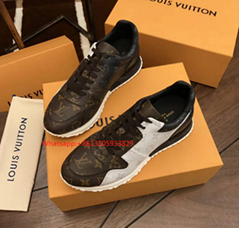 Louis Vuitton Run Away Sneaker 1A3N7W Monogram canvas rubber hand crafted shoes