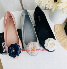 Women Melissa Casual Shoes Sandals Roses Flowers Flats Beach Slip On Loafer