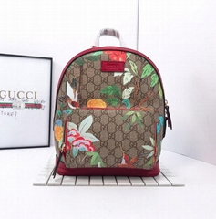 gucci Soft GG Supreme bag with embroidery Signature bag Techno canvas backpack