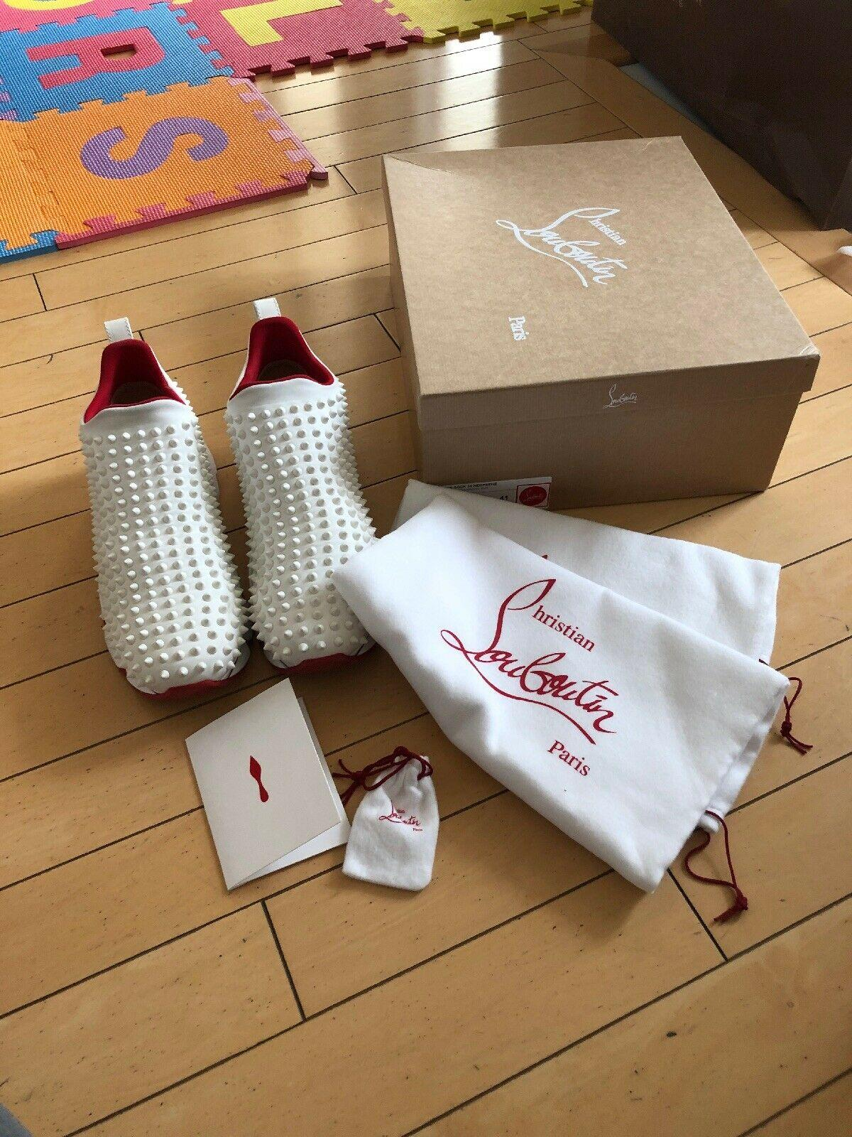 CHRISTIAN LOUBOUTIN Spike studs Donna stretchy sock sneaker