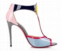 christian louboutin the Eclipse open-toe sandal multi-colored patent leather  3