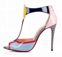 christian louboutin the Eclipse open-toe sandal multi-colored patent leather
