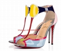 christian louboutin the Eclipse open-toe sandal multi-colored patent leather  4