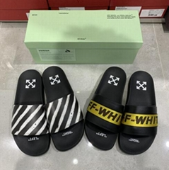 Off-White Black Spray Slides Rubber slip-on sandals men women shoes cheap sale