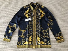 VERSACE Collection Baroque Printed Silk Button Down Dress Shirt