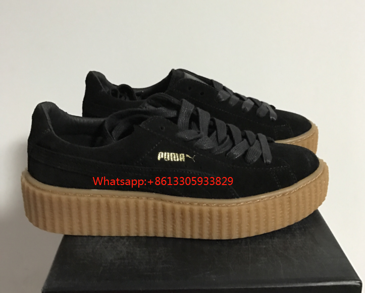 best loved 91735 8ec17 PUMA Fenty X Rihanna Cleated Creeper Shoes Ladies Black ...