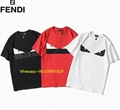 Fendi T-Shirt Embrodied Logo Color