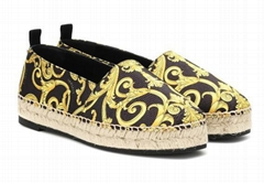 VERSACE Printed espadrilles men women loafer flats shoes cheap sale