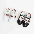 9a56d033 Gucci New Ace Gucci Band Leather Sneaker Toddler kids boy girl shoes ...