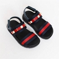 9de8b2a67 Kids Gucci Leather Grip-Strap Sandal w  Web Trim Toddler boy gifrl sandals  shoes ...