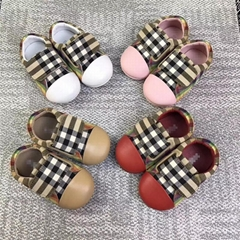 Burberry Belside Vintage Check Canvas Sneakers Toddler Kids girl boy shoes cheap