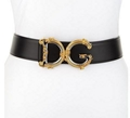 "Dolce & Gabbana Baroque Logo Leather Belt ""DG"" logo buckle with baroque"