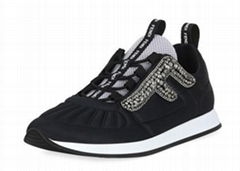 Fendi Freedom Stretch Sneakers with Crystals