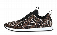Fendi Freedom FF Stretch Sneakers FF-print fabric with contrast stitching