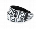 Fendi Men's Logo-Embossed Leather Belt Fendi men's belt in embossed calf leather