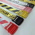 Off-White Men's Rubber Industrial Belt women transparent rubber PVC buckle 5