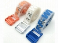 Off-White Men's Rubber Industrial Belt women transparent rubber PVC buckle 7