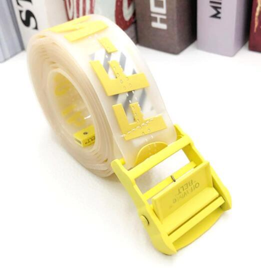 Off-White Men's Rubber Industrial Belt women transparent rubber PVC buckle 10