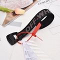 Off-White Men's Rubber Industrial Belt women transparent rubber PVC buckle 13