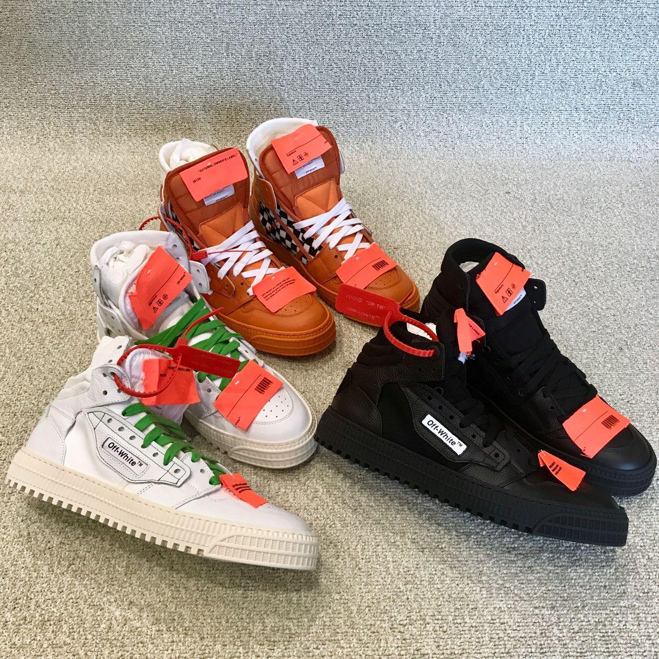 Off-White Men's Off Court High-Top Leather Sneakers men women luxury brand shoes 1