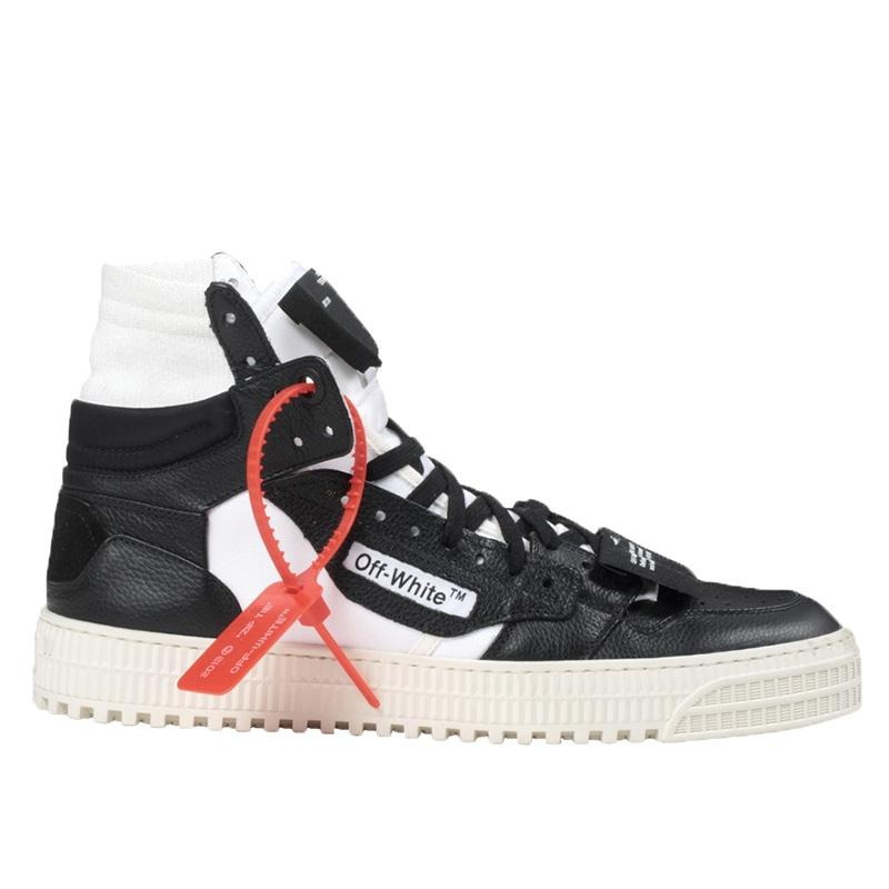 Off-White Men's Off Court High-Top Leather Sneakers men women luxury brand shoes 8