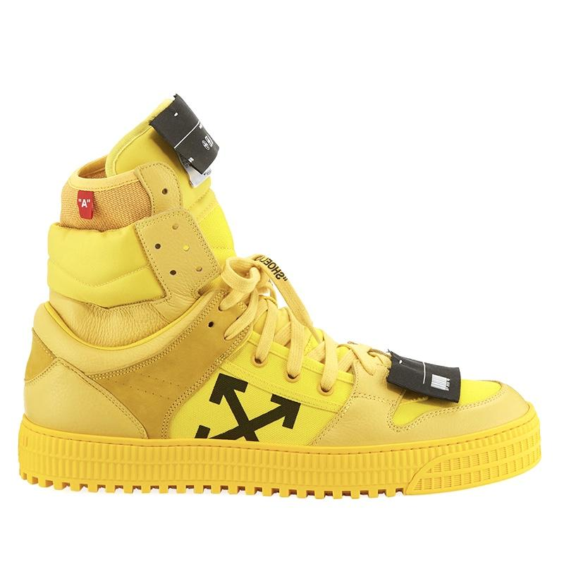 Off-White Men's Off Court High-Top Leather Sneakers men women luxury brand shoes 10