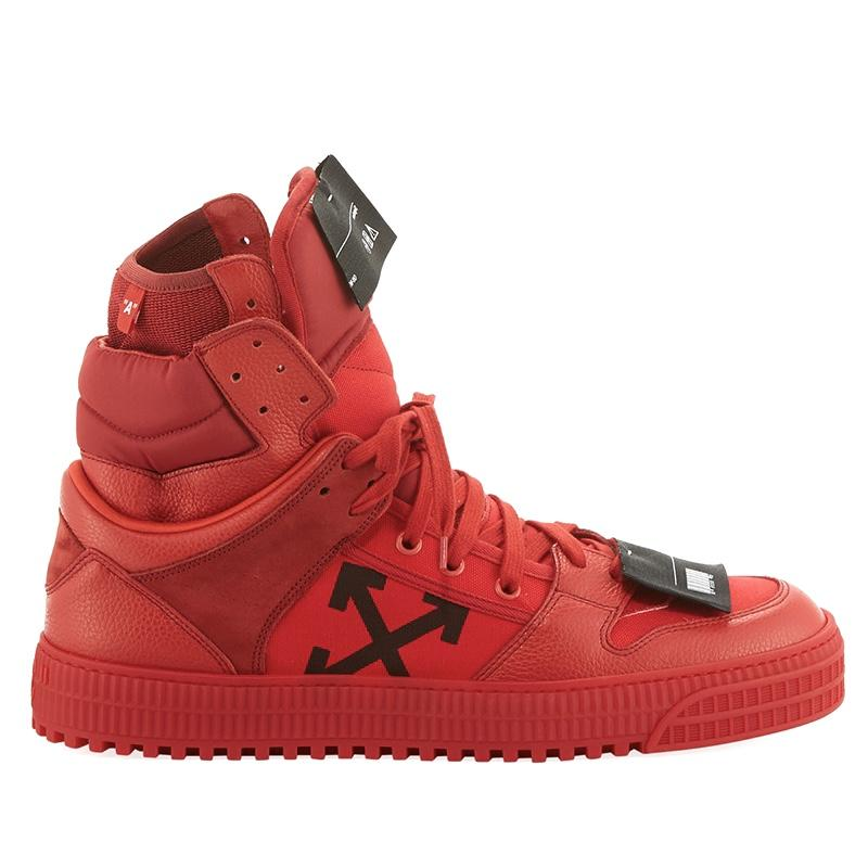 Off-White Men's Off Court High-Top Leather Sneakers men women luxury brand shoes 11