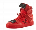 Off-White Men's Off Court High-Top Leather Sneakers men women luxury brand shoes 12