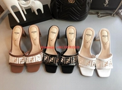 FENDI Clear Ombre PVC Leather Sandals cheap fashion women slippers