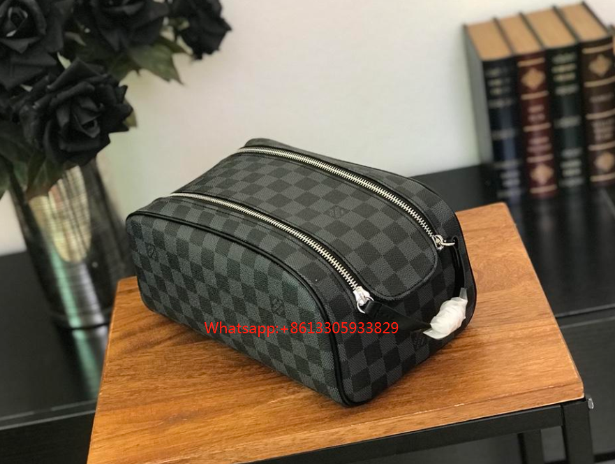 3d4695dd Louis Vuitton Damier Ebene King Size Toiletry Bag N47527 - Off-White ...