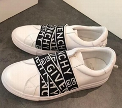 Givenchy White & Black 4G Webbing Urban Street Sneakers Low-top buffed calfskin