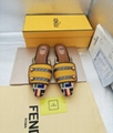Fendi FF Fabric Sabots Slippers 2019 summer new style cheap desgin flats— yellow