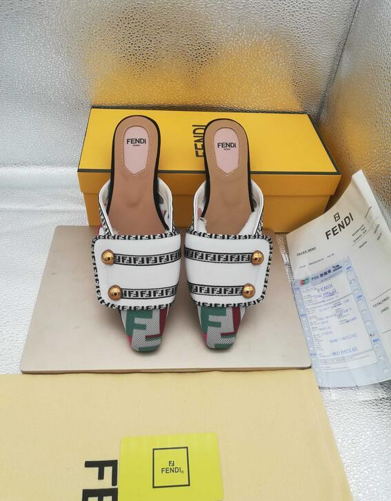 Fendi FF Fabric Sabots Slippers 2019 summer day new style cheap desgin flats 20