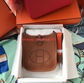 Hermes Evelyne Bag in Clemence leather Gold Brown