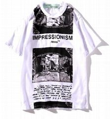 OFF 19SS WHITE oil painting t-shirt summer new series short sleeve trend