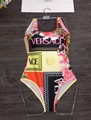 Versac Floral Beach Wear Classic One Piece Bikini Swimsuit Set Bathing Suits